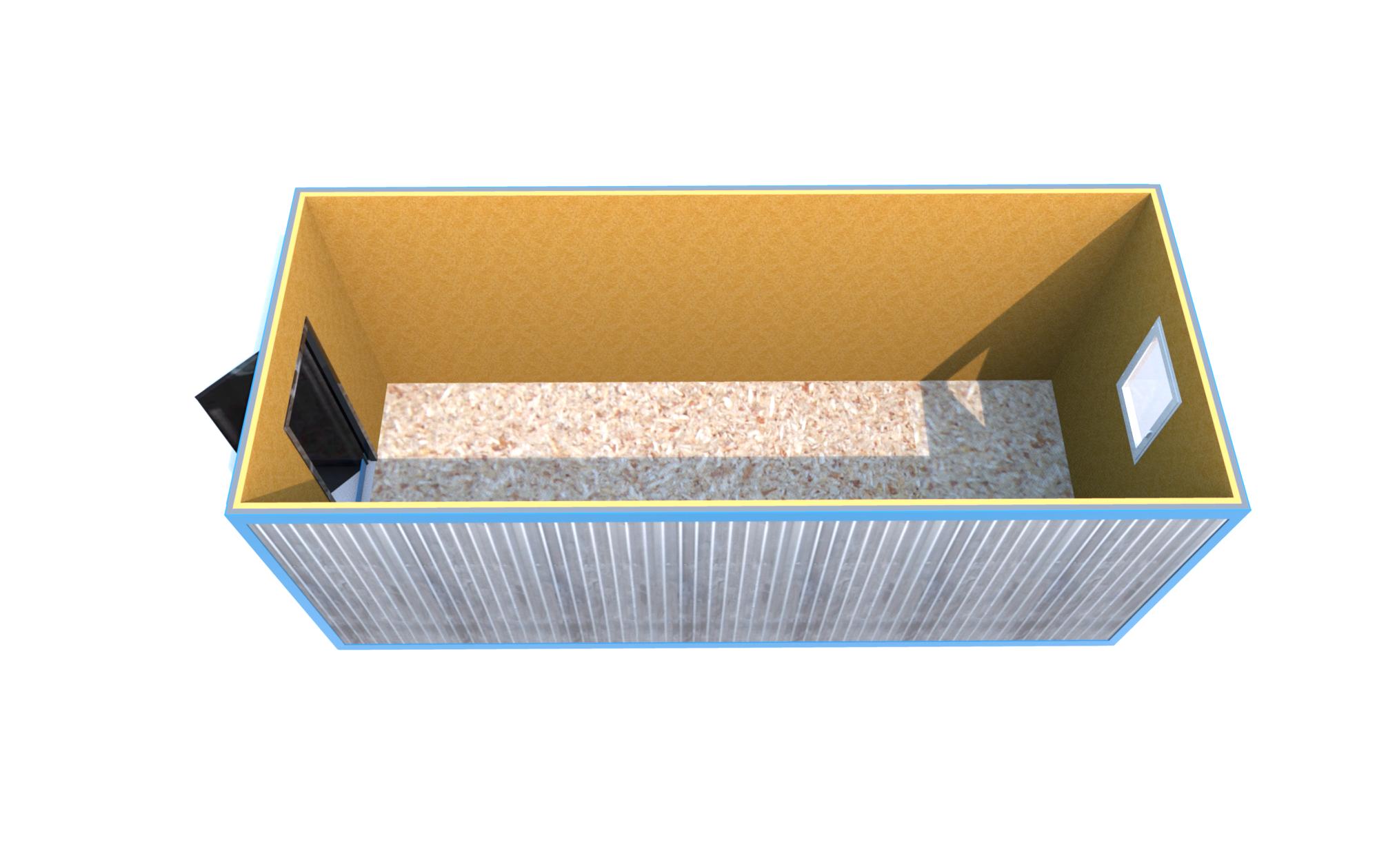 Блок-контейнер 6000x2400x2500 «БЮДЖЕТНЫЙ ВАРИАНТ»