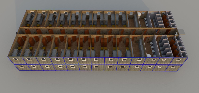 Модульное здание(Д.,Ш.,В.) 12,0*31,2*5,0м.